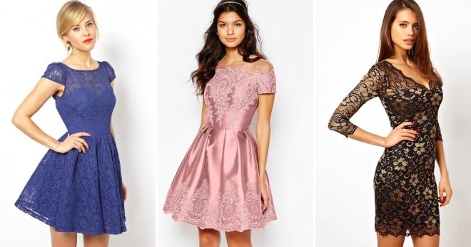 Короткое кружевное платье – самые красивые образы в ажурных нарядах
