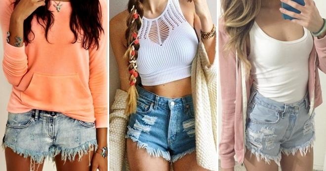 Короткие джинсовые шорты – кому идут и с чем носить?