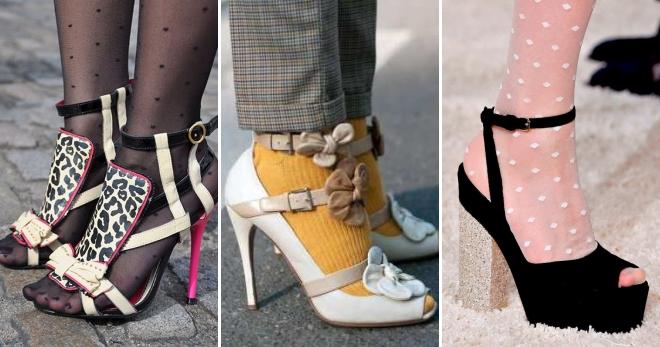 Босоножки с колготками – как создать стильный образ и мнение стилистов