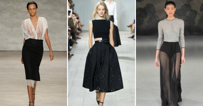 Черная юбка – самые модные фасоны и с чем носить?
