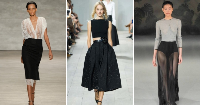 7c44214a7b3 Модная черная юбка – длинная в пол, миди, короткая мини, карандаш ...