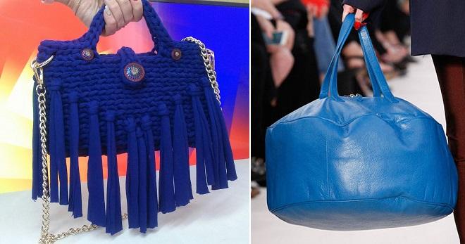 Синяя сумка – какие бывают и с чем носить?