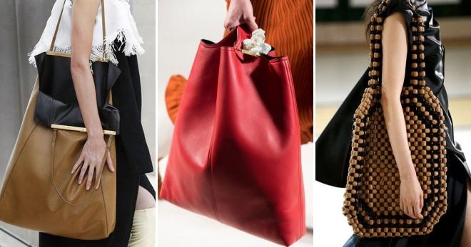5dd27552b482 Модные женские большие сумки – кожаная, трикотажная, черная ...