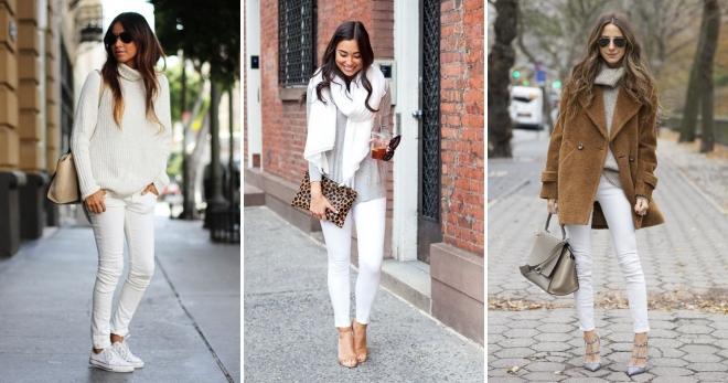 Белые джинсы – с чем носить и как создать модный образ