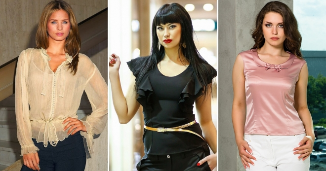 b890e10152f Летние блузки – самые модные модели и расцветки