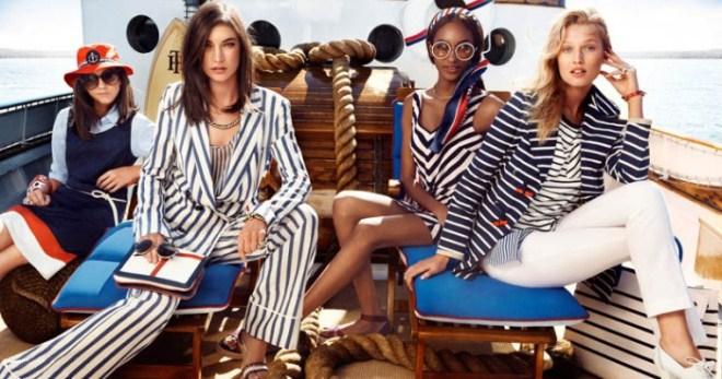 Морской стиль в одежде для женщин