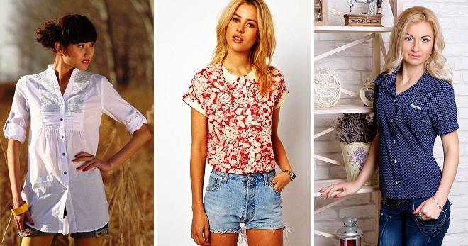 Летние рубашки – самые модные фасоны и с чем носить?