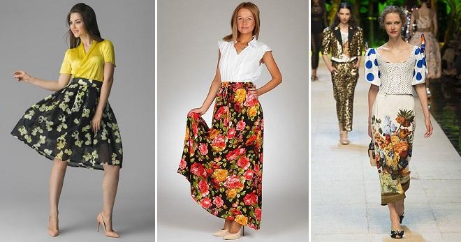 b659ed7b9ed Стильная юбка с цветочным принтом – длинная в пол, миди, короткая ...
