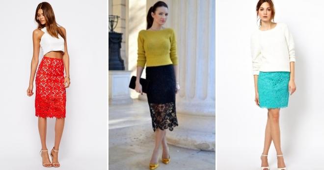 Кружевная юбка – с чем носить и как создать самый модный образ