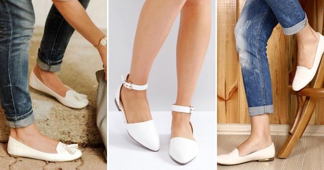 3851464a9 Стильные женские белые балетки для девушек – кожаные, лаковые ...