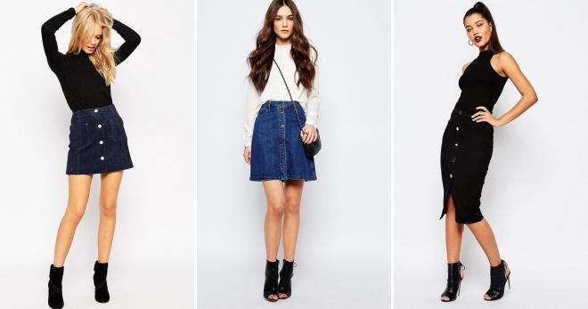 Юбка на пуговицах – самые модные фасоны и с чем носить?