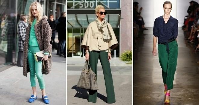 Зеленые брюки – с чем носить и как создавать стильные образы?