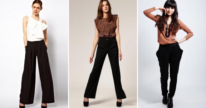 Черные брюки – с чем носить эту универсальную одежду?