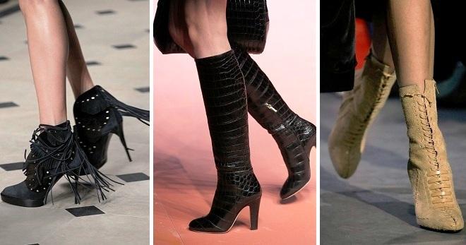 Модные сапоги осень-зима 2017-2018 – на каблуке и без, танкетке, платформе, плоской подошве, ботфорты, тракторы, замшевые, лаковые, с мехом