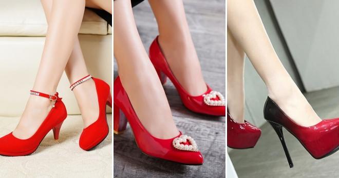 Женские красные туфли – замшевые, лаковые, кожаные, бархатные ... 9ca0c1f046d