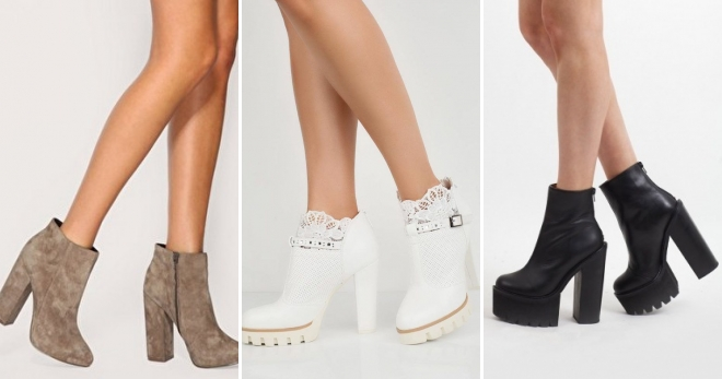 Ботильоны на толстом каблуке – самые модные модели и с чем носить?