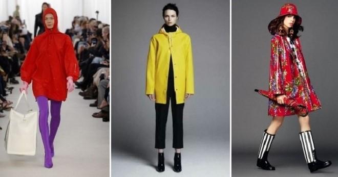 Женский дождевик – с чем носить и как создать стильный образ?