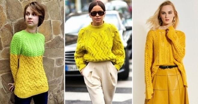 Желтый свитер – с чем носить и как создать модный образ?