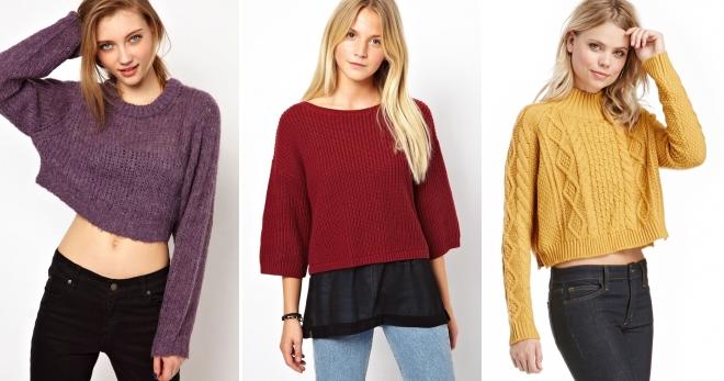 Короткий свитер – с чем носить и как создать модный образ?
