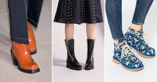 Ботинки на тракторной подошве – самые модные образы с ботинками тракторами