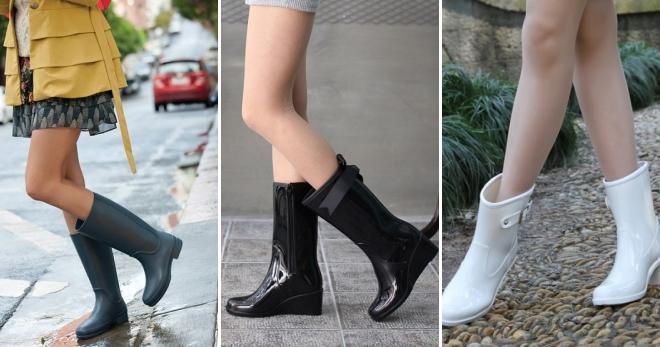 Женские стильные резиновые сапоги – самые красивые и прикольные модели