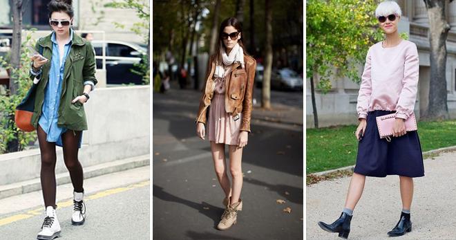 Женские высокие ботинки – с чем носить и как создать модный образ?