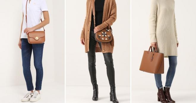 57c46f9391e8 Модная женская коричневая сумка – замшевая, кожаная, через плечо ...