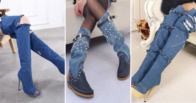 Джинсовые сапоги – самые модные модели и с чем и носить?