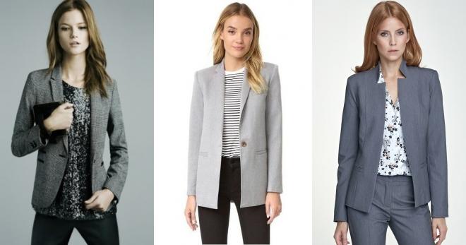 Серый пиджак – с чем носить и как создавать стильные образы?