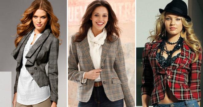 Пиджак в клетку – самые модные модели и с чем носить?