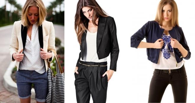 Короткий пиджак – с чем носить и как создавать модные образы?
