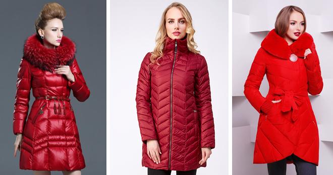 Красный пуховик – самые стильные модели и с чем их носить?