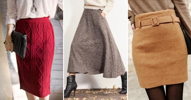 красивые женские теплые юбки на зиму длинные в пол миди