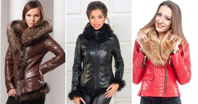 Женские зимние кожаные куртки с мехом – 45 самых модных моделей нового сезона