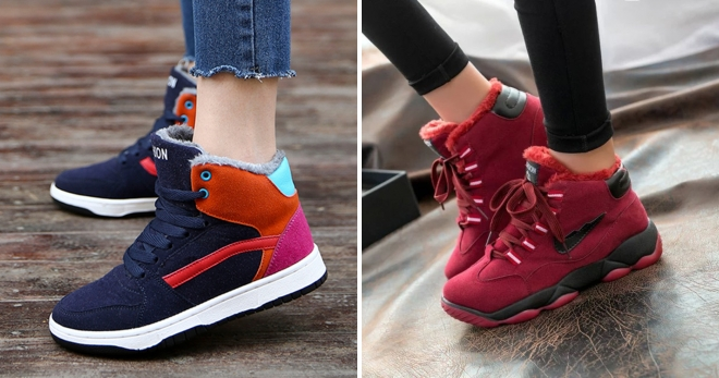 75061ef05a92 Модные женские зимние кроссовки – с мехом и без, беговые, тимберленд ...