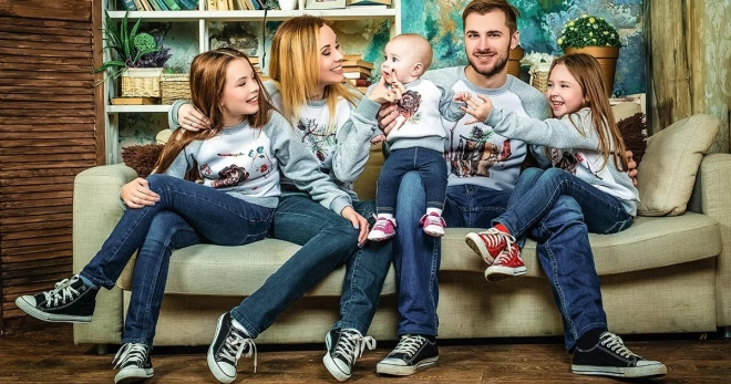 Фэмили лук – как подобрать одежду в стиле фэмили лук для всей семьи?