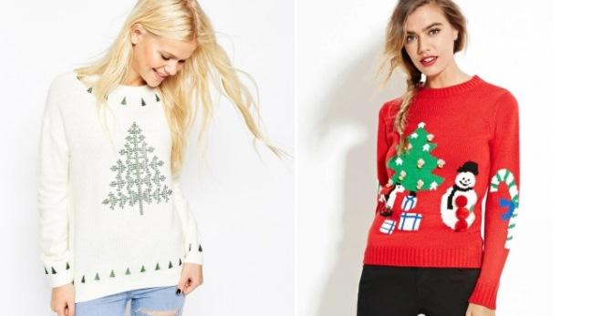 21822b09127d Новогодние свитера для всей семьи – парные для двоих, рождественские ...