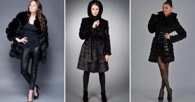 Черная шуба – 30 стильных образов в шубе из натурального и искусственного меха