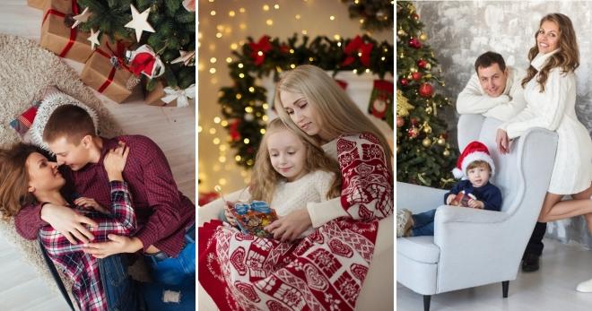 54e25e9d110e Лучшие образы для новогодней фотосессии – фэмили лук для семьи, в ...