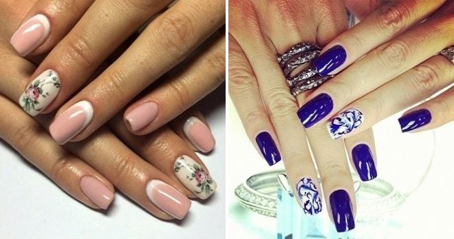 Роспись на ногтях для начинающих с фото: техника