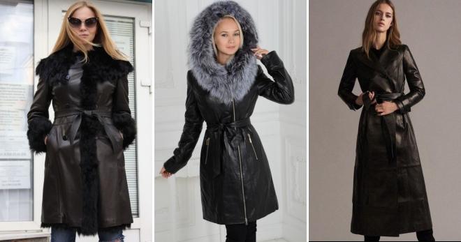 00f98ba3a9f Зимнее кожаное пальто – с чем носить и как создавать стильные образы