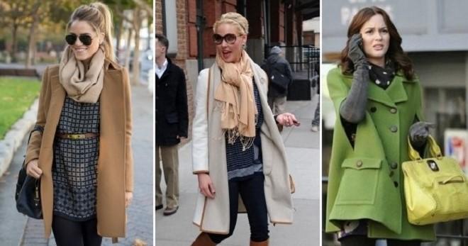 Как носить шарф с пальто – подборка фото стильных образов