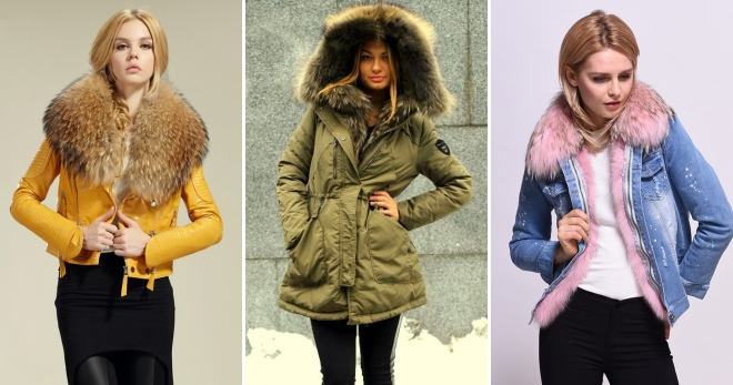 54f777d635e Женские куртки с мехом – подборка фото самых модных зимних моделей на любой  вкус