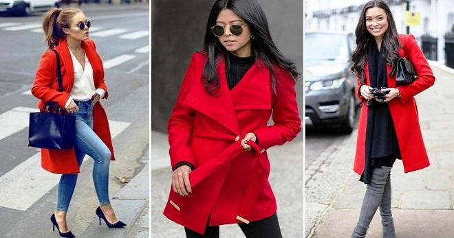 С чем носить красное пальто – 36 фото стильных луков в красном пальто