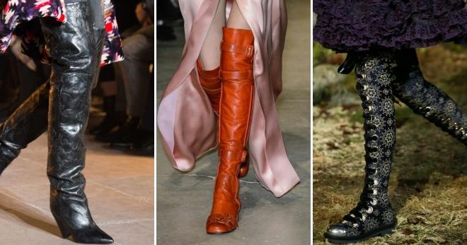 Стильные женские зимние высокие сапоги – на высоком каблуке и без ... d69b109aa6173