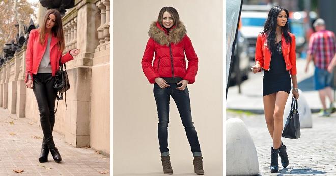 С чем носить красную куртку – подборка фото стильных женских образов с курткой красного цвета