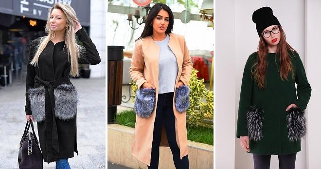 Пальто с меховыми карманами – 26 фото стильных моделей на все случаи жизни