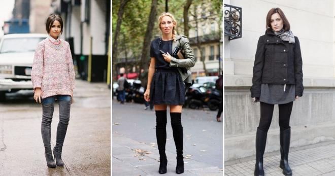 7f69bad7a С чем носить высокие сапоги – подборка фото стильных образов в высоких  сапогах