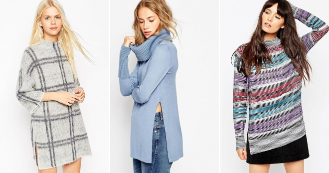 d189a814633c Модные женские зимние туники – теплые, бархатные, вязаные ...