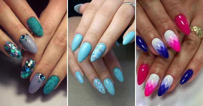 Маникюр на овальные ногти фото дизайн 2018 гель лак лето